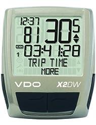 Vdo X2 16 Function - Ciclocomputador inalámbrico, digital, color plateado / negro