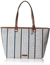 Fossil Damentasche? Rachel Shopper - Borse Tote Donna, Multicolore (Ecru Multi Stripe), 10.16x33.02x35.56 cm (B x H T)