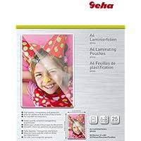 Geha Laminating Pouches 80 Micron A4 glossy, 25 pieces - laminator pouches (25 pieces, Transparent, Glossy, A4, 217 mm, 303 mm, 25 pc(s)) - Confronta prezzi