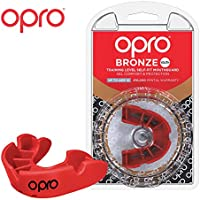 OPRO - Protector bucal Deportivo Unisex (Bronce), Color Rojo