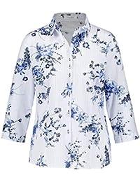 20f9c7953b640b Gerry Weber Damen Bluse 3/4 Arm 3/4 Arm Bluse mit Blütenranken  hautfreundlich, luftig leicht Gemustert leger,…