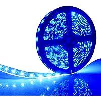 EverBright Super brillo azul 5M(16.4Ft) 5050 SMD 30LED/M 150 LED impermeable Flexible luz tira PCB negro para coche carro Neon servicio iluminación Kits Mall booth House decoration música de la etapa Coloreful luces