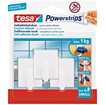 Tesa 57500-00000-02 - Perchas rectangulares auto adhesivas (3 unidades)