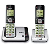 VTech CS6719-2 DECT 6.0 Phone with Caller ID/Call Waiting, Silver/Black with 2 Cordless Handsets