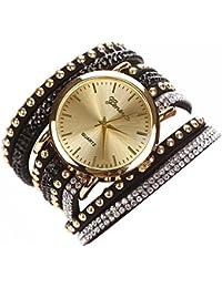 domybest 8colores lujo Casua reloj de pulsera reloj pulsera vestido reloj de oro de las mujeres