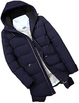 MHGAO Invierno de los hombres chaqueta con capucha abrigo acolchado libre , blue , xl