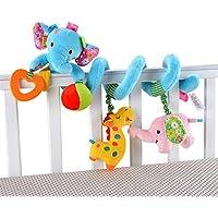 HOSIM Elephant bambino infantile attività Wrap spirale intorno Culla carrozzina Bed culla Stroller Toy ferrovia (Blu)