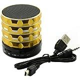 Goliton® SA11 Mini haut-parleur audio et woofer de voiture Bluetooth portable en acier de métal sans fil, amplificateur de la musique avec un lecteur MP3 soutien SD Card-Or