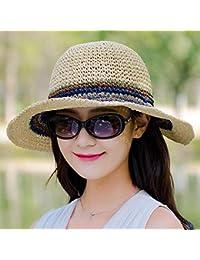 Lxj Sombreros de Playa Sombrero Sombrero Verano Plegable Sol Sombrero Playa  de Mujer Paseo Sombrero Femenino 01120bc3aff