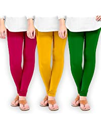 TSG Combo Of 3 Plain Cotton Leggings