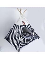 CWXW® Pequeña cama del animal doméstico Waterloo, lavables, portátiles, rayas, tiendas de mascotas , 2