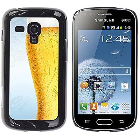 TORNADOCOVER Unico Immagine Rigida Custodia Case Cover Protezione Per SMARTPHONE Samsung Galaxy S Duos S7562 - divertente bicchiere di birra gelido