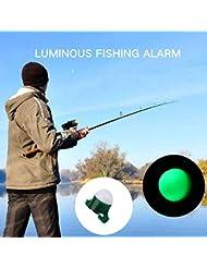 Rosepoem 1 PC 2 en 1 brillante brillando Caña de pescar Mordedura Alarma Clip Tackle Sports Pequeño Mini portátil