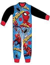 Boys Licensed Spiderman Micro Fleece Onesies Age 3 to 8 Years
