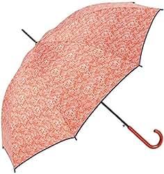GOTTA Paraguas Largo de Mujer, automático con puño Curvo de plástico. Tejido Estampado Cachemire