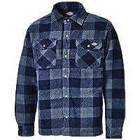 Dickies Portland Werkhemd, gevoerd werkhemd, blauw, blauw/grijs, maat L.