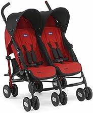 Chicco Echo Twin İkiz Baston Bebek Arabası, Garnet
