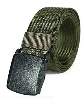 KeeCow Cinturon Nylon Hombre,Cinta de 3,8 cm de ancho con hebilla plástica YKK