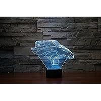 Denver Broncos 3D luci colorate luci della lampada della luce di notte luci di visione (Superb Gioiello)