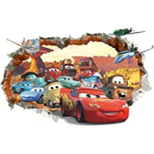 Kibi 3d Aufkleber Cars Wandsticker Cars Disney Wandtattoo Cars Kinderzimmer WandAufkleber Wall stickers