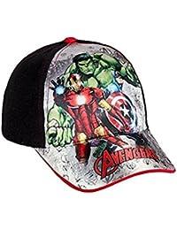 Avengers Marvel cappello Premium con visiera Bambino Baseball tg 52 i 54  (52 nero) e23a05c7fb87