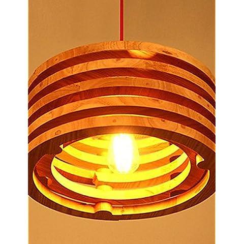 Willow lampada di Wood lampadario di apparecchi di illuminazione Le luci pendenti balcone in legno Ristorante Bar , bianco caldo-