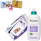 Himalaya Herbals Baby Lotion (400ml)+Himalaya Herbals Soothing Baby Wipes (12 Sheets) With Happy Baby Luxurious Kids Soap With Toy (100gm)