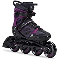K2 Damen Fitness Inline Skates VO2 90 Boa W - Schwarz-Lila - 30C0119.1.1