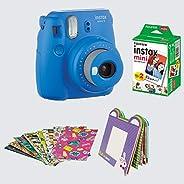 FujiFilm Instax Camera Mini 9 Bundle Pack (Cobalt Blue)