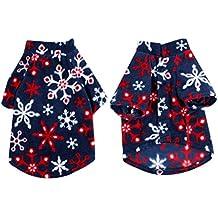Sourcingmap Snowflake modello manica corta vestiti del cane cappotto t-shirt, grande, blu scuro