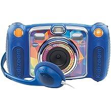 VTech - Kidizoom Duo, cámara digital 8 en 1 con auriculares, para niños, color azul (170805) (versión en francés)