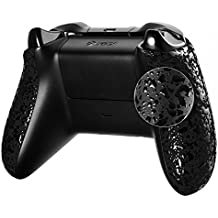 eXtremeRate Textured Granule Black Custom Right Left Panel Handle Side Rails for Microsoft Xbox One Controller
