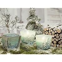 BRIGHT CHRISTMAS Weihnachtskerzen Deko Duftkerze im Glas in verschiedenen Duftvarianten, Brenndauer: 30h (Snow... preisvergleich bei billige-tabletten.eu