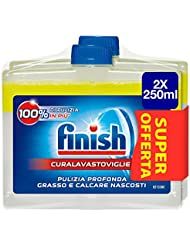 Finish Curalavastoviglie Additivo Lavastoviglie, Limone, 2 x 250 ml