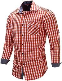 Bmeigo Hombre Camisa Con Mangas Largas y Camisa Abotonada Classic Camiseta