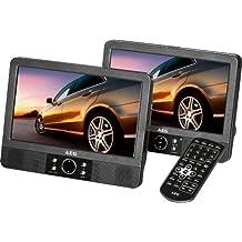AEG DVD 4552 - Reproductor de DVD para coches (pantalla LCD de 9'', mando a distancia, tarjeta de lectura), negro