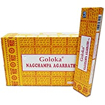 Goloka McGuinness - Bastoncini di incenso, confezione da 12, aroma: Champa