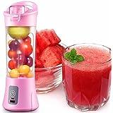 ShoppoStreet Plastic and Steel Design Portable Juice Fruits Mixer Bottle (ST989844, Multicolour)