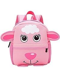dfc3152523 Scuola Borsa, feiXIANG Bambini Zaino,3D Carino Animale Design Toddler  Bambino Piccolo Neoprene Scuola Borse Asilo Cartoon…
