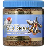 New Life Spectrum Small Gold Fish Formula 1mm Sinking Pellets Natural 150grams