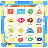Kirat 2in1 Wooden Educational Puzzle With Snakes And Ladders , Multicolor By Krasa (Shapes &Colors)