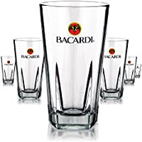 6 X Bacardi vetro/Occhiali 355 ML Libbey Cocktail Long Drink Gastro Bar decorativo