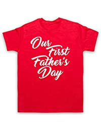 Our First Father's Day Baby Daughter Herren T-Shirt