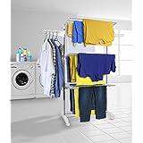 Tendedero Airer ropa extra grande de 3 niveles de secado de ropa plegable rampa
