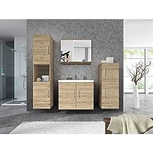 JUSThome Miri Conjunto modulos de cuarto de baño 4 piezas San Remo