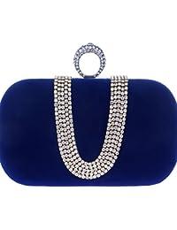 HE-Bag Bolso de Noche de señora con Incrustaciones de Diamantes Bolso de Moda de