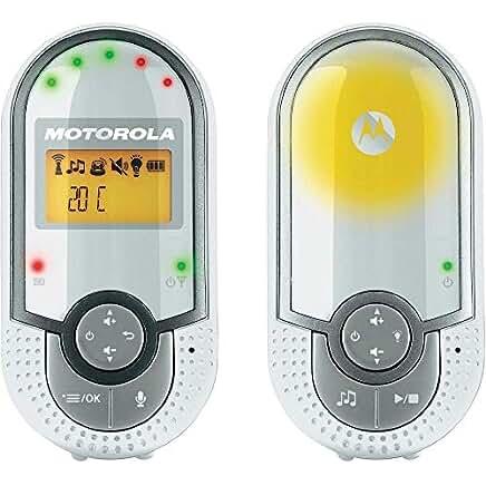 Motorola MBP 16 - Vigilabebés audio con pantalla de 1.5, modo eco y luz nocturna