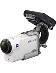 Sony FDR-X3000R + AKA-FGP1 Camera d'action ultra-stabilisée/4K | Travel Kit | Blanc
