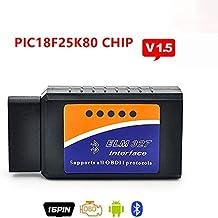 ELM327Bluetooth V1.5BT adaptador funciona en Android Torque Elm 327V 1,5interfaz OBD2/OBD II Auto coche diagnostic-scanner