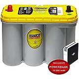 Optima Yellow Top YT S 5,5 - 12 V / 75 Ah - 975 A/EN Starterbatterie Versorgungsbatterie inkl. 10 Ah PowerBank